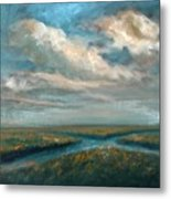 Water Cross Metal Print