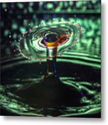 Water Drop Collision Metal Print