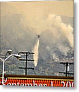 Water Drop On The Station Fire Metal Print