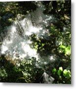 Water Fall In The Woods Metal Print