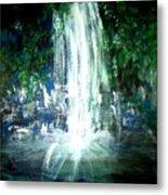 Water Falling Metal Print