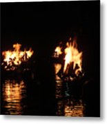 Water Fire Metal Print