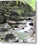 Water Flowing Through The Gorge Metal Print