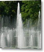 Water Fountain Show - Longwood Gardens In Pa Metal Print