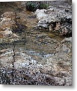 Water Going To The Falls Metal Print