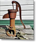 Water Hand Pump Metal Print