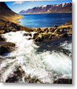 Water In Iceland - Beautiful West Fjords Metal Print