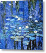 water lilies a la Monet Metal Print
