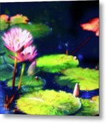 Water Lilies Metal Print by Harry Spitz
