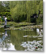 Water Lily Garden Of Monet In Giverny Metal Print