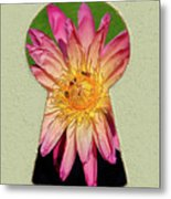 Water Lily Keyhole Metal Print