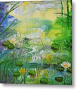 Water Lily Pond 1 Metal Print