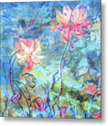 Water Lotus Metal Print