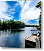 Water Mirrors Sky Metal Print