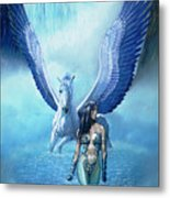 Water Pegasus Metal Print