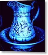 Water Pitcher And Bowl Still Life Metal Print