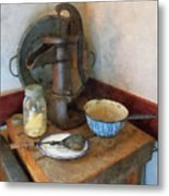 Water Pump In Kitchen Metal Print