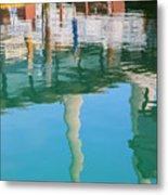 Water Reflections Of Morro Bay  Dock Metal Print