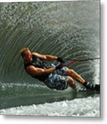 Water Skiing Magic Of Water 11 Metal Print by Bob Christopher