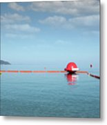 Water Slide Seascape Summer Vacation Scene Metal Print