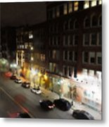 Water Street Looking South From The Marshall Building Metal Print
