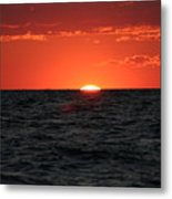 Water Sun Set Metal Print