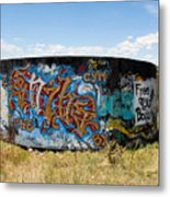 Water Tank Graffiti Metal Print