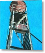 Water Tower Metal Print by Glenda Zuckerman