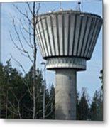 Water Tower Of Lohja  Station Metal Print