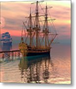 Water Traffic Metal Print