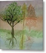 Water Trees Metal Print