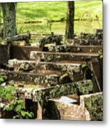 Water Trough Intersection Metal Print