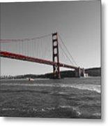 Water Underneath The Bridge-black And White Metal Print