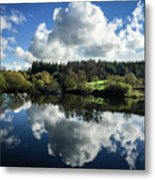 Water Vapour On A Mirror Metal Print