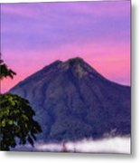 Water Volcano, Guatemala Metal Print