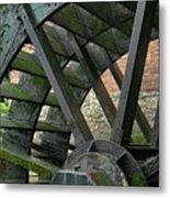Water Wheel At Graue Mill, Oakbrook, Illinois Metal Print
