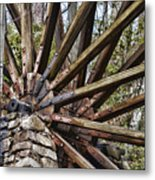 Water Wheel In The Fall Metal Print