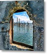 Water Window Metal Print