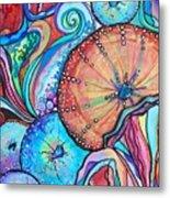 Watercolor #4 Sea Urchins Metal Print