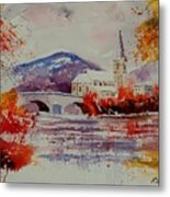 Watercolor Anseremme Metal Print