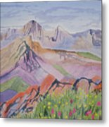 Watercolor - Blanca And Ellingwood Landscape Metal Print