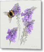 Watercolor Bumble Bee Metal Print