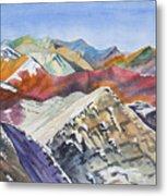 Watercolor - Colorado Elk Range View Metal Print