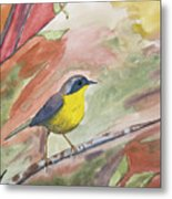 Watercolor - Common Yellowthroat Metal Print
