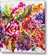 Watercolor Garden IIi Metal Print
