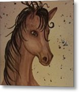 Watercolor Horse Metal Print