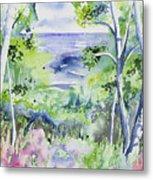 Watercolor - Lake Superior Impression Metal Print