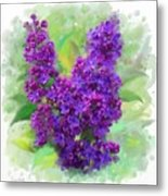 Watercolor Lilac Metal Print