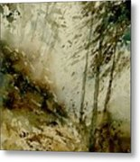 Watercolor Misty Atmosphere  Metal Print
