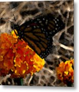 Watercolor Monarch Metal Print